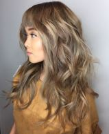 3 Long Layered Haircut With Cropped Bangs