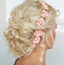 4 Curly Messy Blonde Updo
