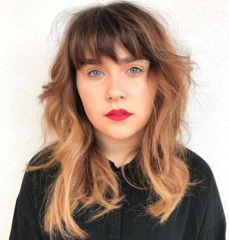 42 Messy Frizzy Style With Shorter Bangs