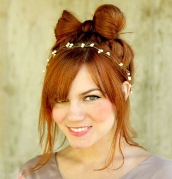 5 Cute Girly Hair Bow Updo