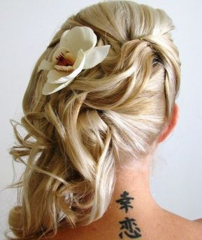 6 Side Wedding Hairstyle With A Flower