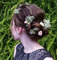 6 Simple Updo With Hair Flowers