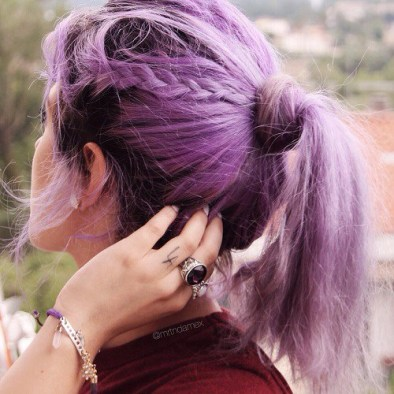8 Pastel Purple Ponytail