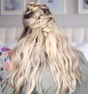 9 Knotted Mohawk Half Updo For Long Hair