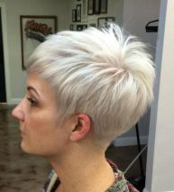 1 Silver Blonde Pixie Hairstyle