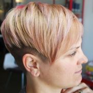 13 Blonde Undercut With Pastel Pink Highlights