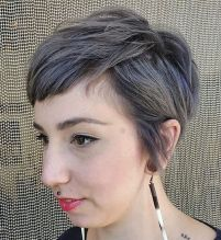 15 Very Short Textured Gray Hairstyle
