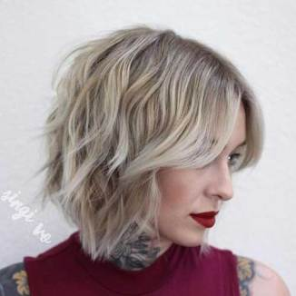 Choppy Medium Length Bob