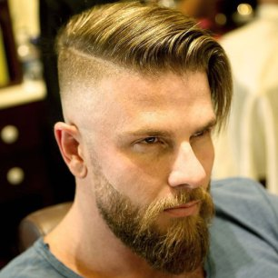 Comb Over Shaved Sides Beard