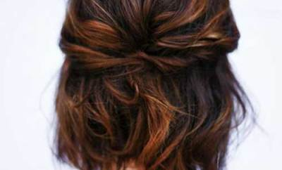 Cute Easy Short Wavy Hair Back