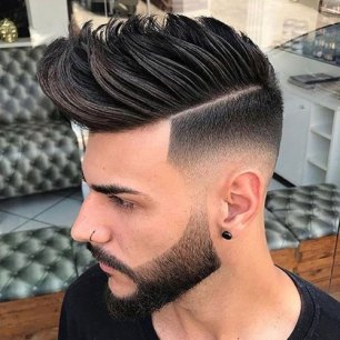 Faux Hawk Low Skin Fade Hard Part