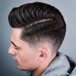 Hard Side Part Pompadour