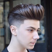 High Taper Fade Pompadour