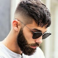 Long Crop High Bald Fade Full Beard