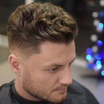 Modern Textured Quiff Thick Wavy Hair