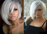 Platinum Blonde Short Straight Hair