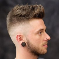 Quiff With High Skin Fade And Bea
