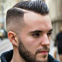 Short Comb Over Hard Side Part High Bald Fade