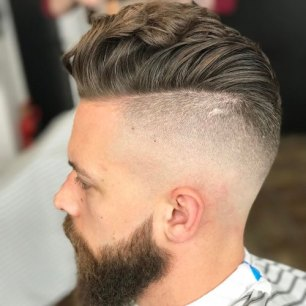 Wavy Hair Pomp Undercut