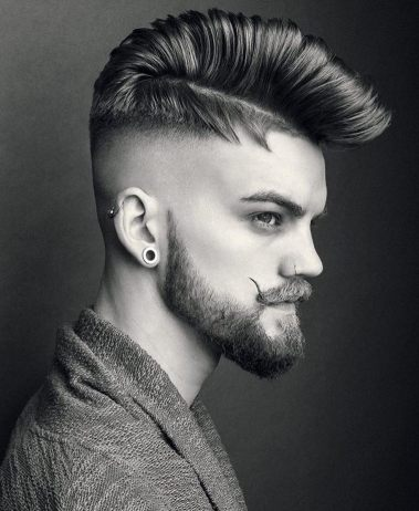 R.braid Pompadour Roll Fade Mens Hair 2018