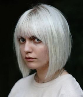 2 Silver Bob With Bangs