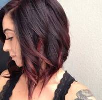 Colored Short Haircut