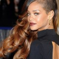 Rihanna Hairstyles Edgy Chic Side Swept Long Curls