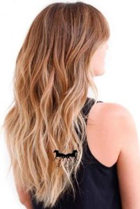 Light Brown Hair Styles Long Wavy Honey Blonde Ombre