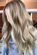 Light Brown Hair Styles Medium Length Curly Natural Light Blonde Balayage