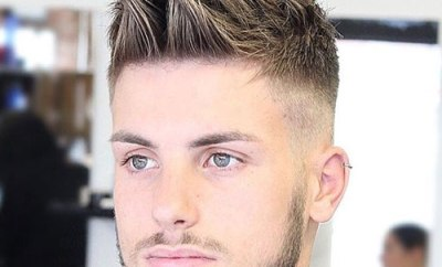 Messy Quiff With High Fade And Beard