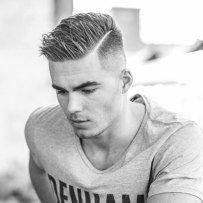 Spiked Side Part With High Fade