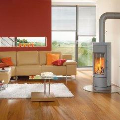 Living Room Designs With Wood Stove Design Ideas For Large Walls Stoves Tophat Pro The Striking Cylindrical Shape Gives Bari Modern Appeal Soapstone Construciton Provides Radiant Heat