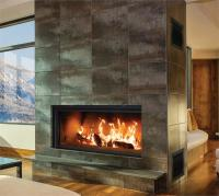 Renaissance | Split Pane Wood Burning Fireplace | Linear ...