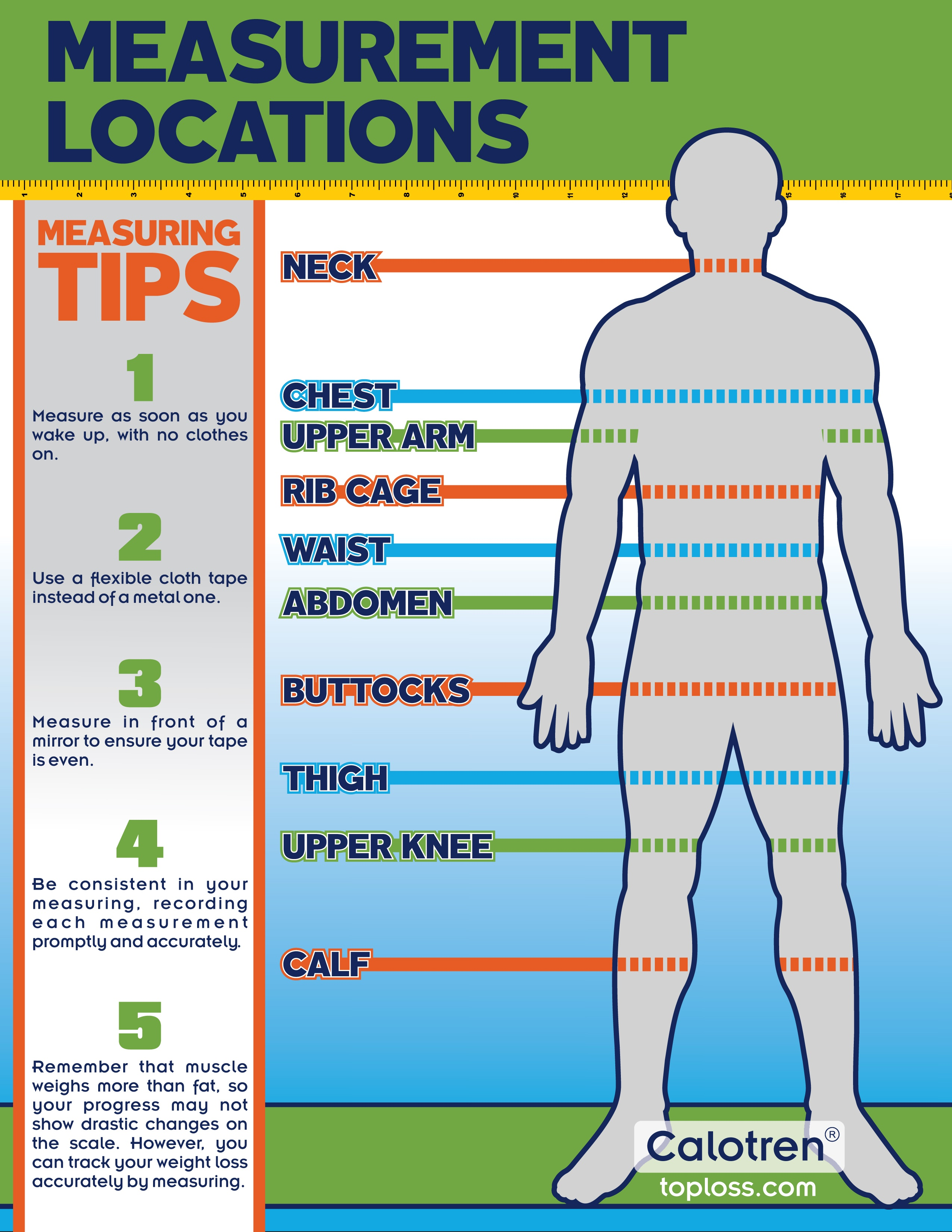 Weight loss measurement chart graphic track progress calotren also healthy charts rh tophealthsource