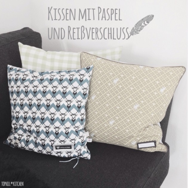 tutorial kissen mit paspel und rei verschluss. Black Bedroom Furniture Sets. Home Design Ideas