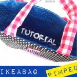 Tutorial | Große blaue Schwedentasche anhübschen