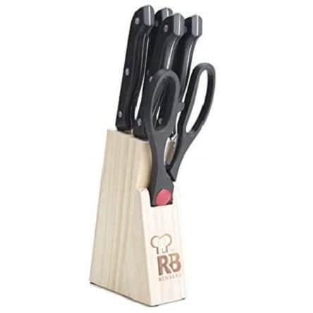 Renberg Stainless Steel Knife Set, 6-Pieces