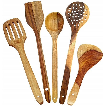 Spoon Set For Kitchen / Wooden Spatula