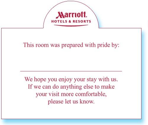 Marriott PrideWelcome tent card 1220801