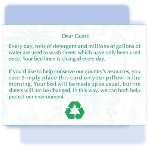 Linen Saver Folding Tent Card Option 1 Generic Green 122570
