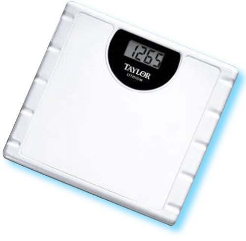 Taylor lithium electronic bathroom scale 7727000