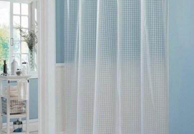 Clear Blue Shower Curtain