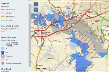 休斯顿Sugar Land糖城的哪些地区容易淹水?