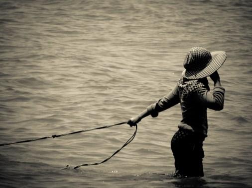 Pêcheuse mais élégante