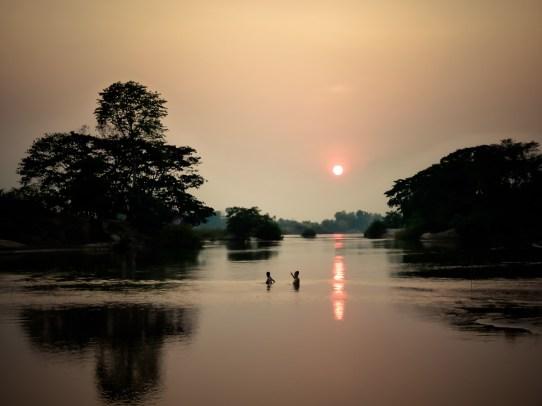 Sunset sur le Mékong I