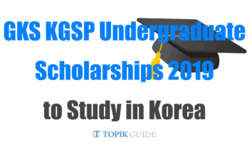 NIIED KGSP Scholarship 2019 - Complete Guide | TOPIK GUIDE