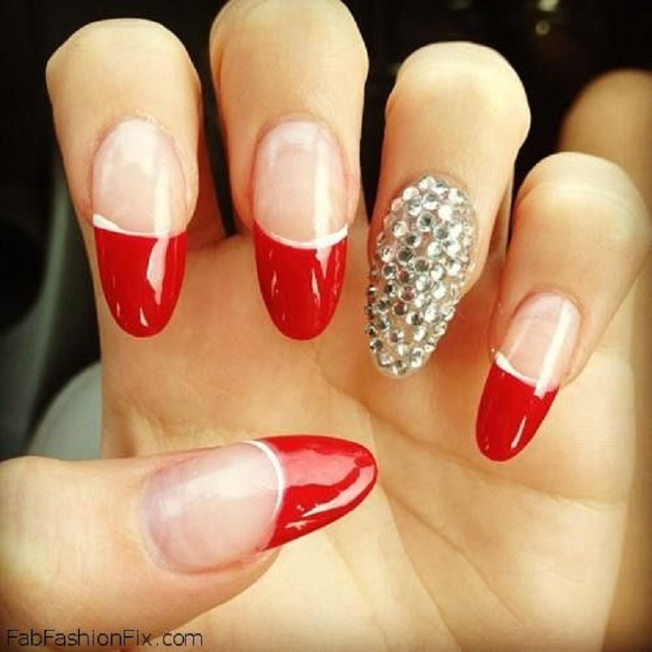 10 Attractive Red Nail Designs 2015