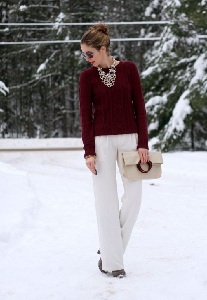 Top 10 Ways To Wear Burgundy Color In Winter  Top Inspired