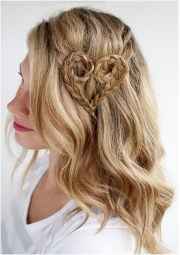 valentine heart-shaped hairstyles