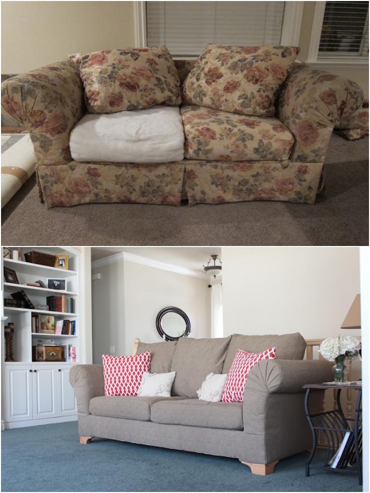 Top 10 Refreshing DIY ReUpholstered Furniture  Top Inspired